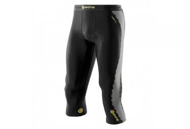 collant 3 4 de compression skins dnamic noir gris m