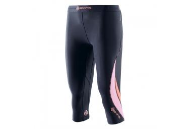Collant 3 4 de compression skins dnamic bleu rose xs