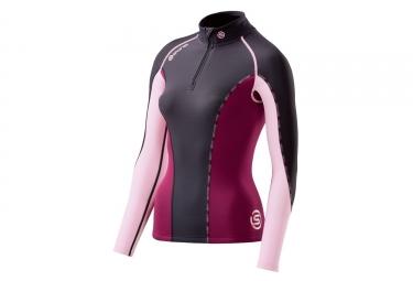 Maillot thermique de compression femme skins dnamic bleu rose xs