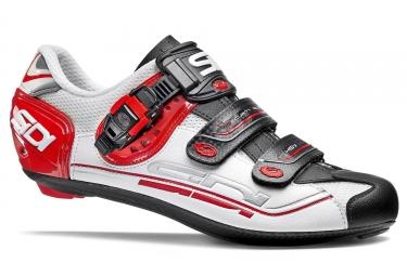 chaussures route sidi genius 7 blanc noir rouge 2017 42