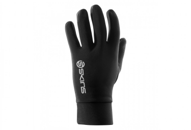 gants hiver skins thermal running noir m
