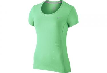 maillot femme nike dri fit contour vert m