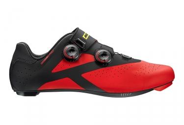 paire de chaussures route mavic 2017 cosmic pro noir rouge 40
