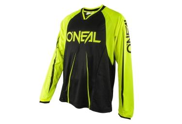 maillot manches longues oneal element blocker jaune noir xl