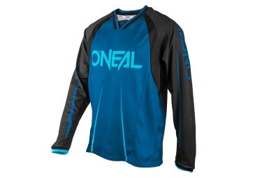 maillot manches longues oneal element blocker bleu noir s