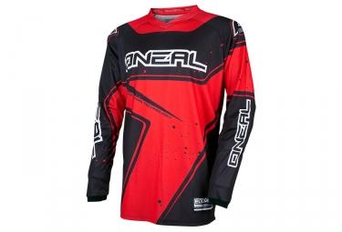 maillot manches longues oneal element racewear rouge noir s