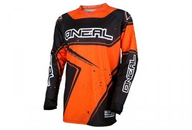 maillot manches longues enfant oneal element racewear orange noir kid m