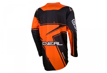 maillot manches longues enfant oneal element racewear orange noir kid m
