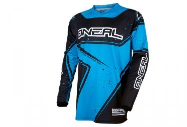 maillot manches longues oneal element racewear bleu noir xl