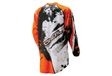 maillot manches longues enfant oneal element shocker noir orange kid xl