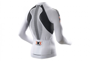 maillot thermoregulant x bionic the trick biking blanc noir xl