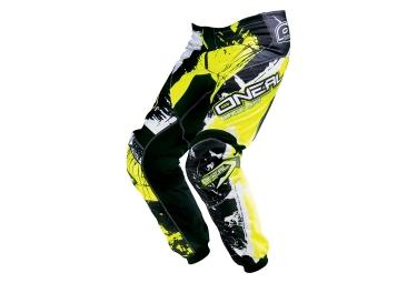 Pantalon oneal element shocker noir jaune 30