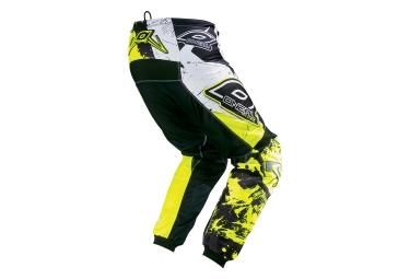 pantalon oneal element shocker noir jaune 32