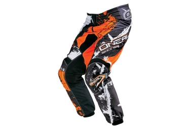 pantalon enfant oneal element shocker orange noir 24