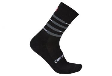 paire de chaussettes castelli incendio 15 noir gris 36 39