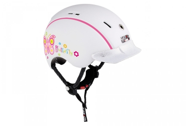 casque fille casco mini generation blanc rose 50 55 cm