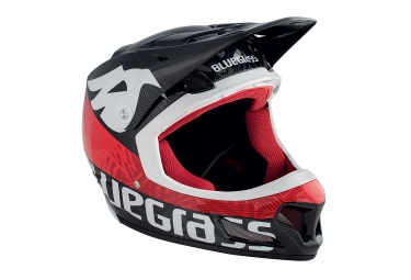 casque integral bluegrass brave noir rouge s 54 55 cm