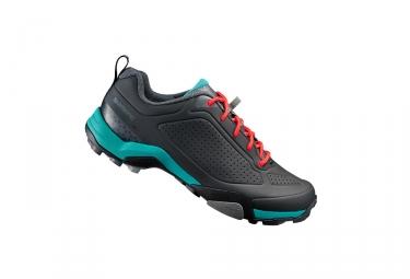 paire de chaussures femmes vtt shimano mt300 d noir vert 36