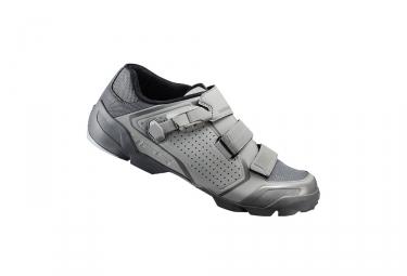paire de chaussures vtt shimano 2017 me5 gris 42