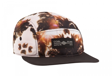 Coal Headwear The Exposition Se Palme Cap 5 Panel Kappe Braun