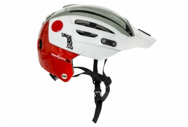 Casque URGE 2019 Endur-O-Matic 2 Mips Blanc Gris Rouge