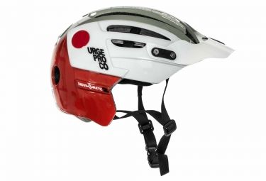 casque urge endur o matic 2 blanc gris rouge l xl 57 59 cm
