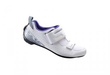 Paire de Chaussures Femme Triathlon SHIMANO TR500 Blanc