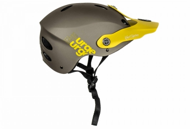 casque urge all in marron jaune s m 51 54 cm