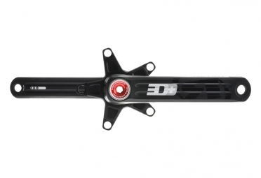 ROTOR 3D+ Cranks 130/74mm BB30 Black/Red