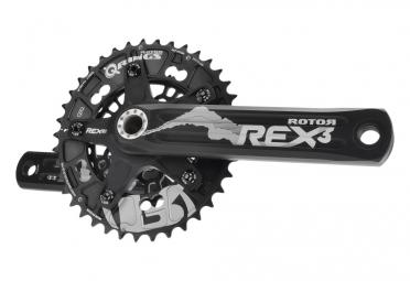 manivelles rotor rex 3 2 double 110 60mm noir 172