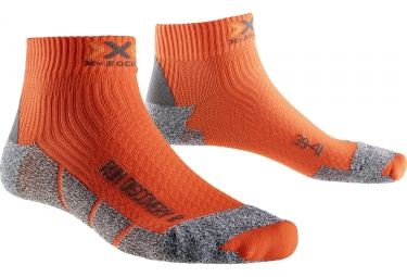 Paire de chaussettes x socks run discovery v2 gris orange 35 38