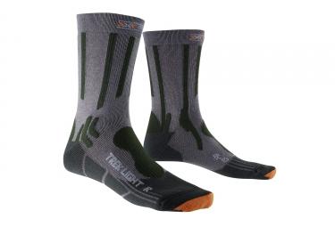 paire de chaussettes x socks trekking light gris 35 38