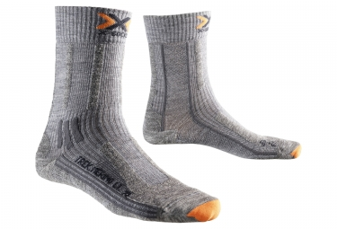 Paire de chaussettes x socks trek merino light gris 42 44