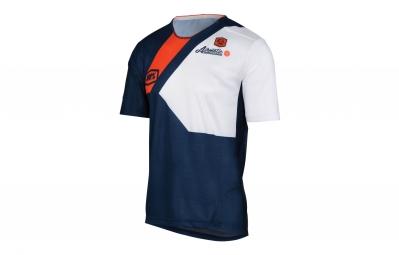 maillot manches courtes 100 airmatic honor bleu xl
