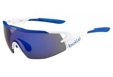 Lunettes BOLLE AEROMAX MATTE Blanc Bleu - Bleu