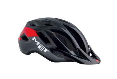 Casco Met Crossover Noir / Rouge