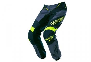 Pantalon ONEAL ELEMENT RACEWEAR Gris Jaune