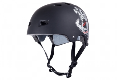 casque bol bullet santa cruz screaming hand noir mat l xl 58 61 cm