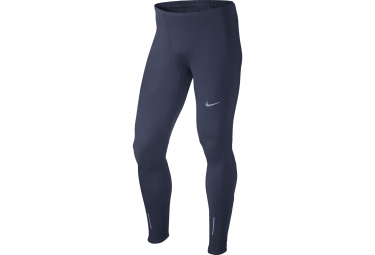collant long homme nike therma bleu s