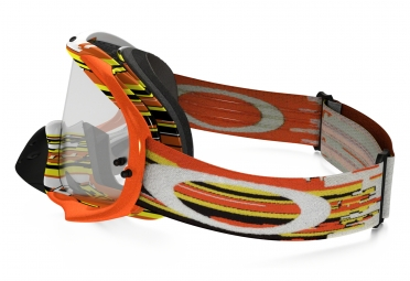 Masque Oakley Crowbar MX Glitch Gris Noir/Jaune/Orange