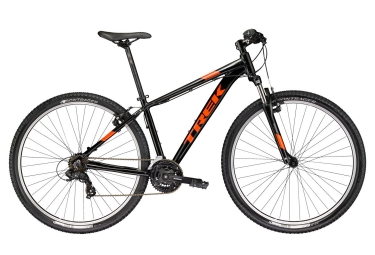 vtt semi rigide trek 2017 marlin 4 29 shimano tourney 7v noir orange 23 pouces 196 204 cm