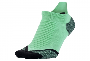 Nike Elite Cushioned No-Show Tab  Socks  - Vert