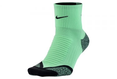 Nike Elite Cushion Quarter  Socks  - Vert