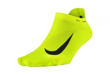 paire de chaussettes nike elite lightweight jaune fluo 36 38