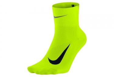 Paire de chaussettes nike elite lightweight 2 0 jaune fluo 36 38