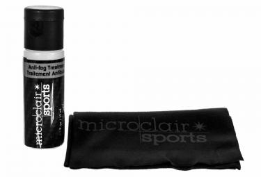 MICROCLAIR Kit traitement antibuée et serviette microfibre