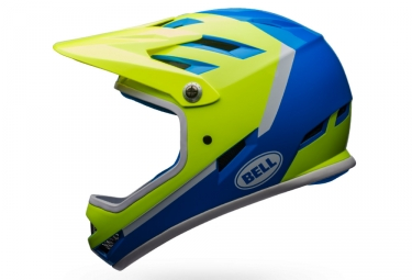 casque integral bell sanction bleu jaune l 58 62 cm