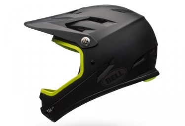 casque integral bell sanction noir mat jaune m 55 59 cm