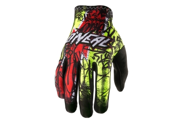 Gants Longs ONEAL MATRIX VANDAL Jaune Rouge