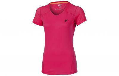 asics maillot fuzex rose femme m